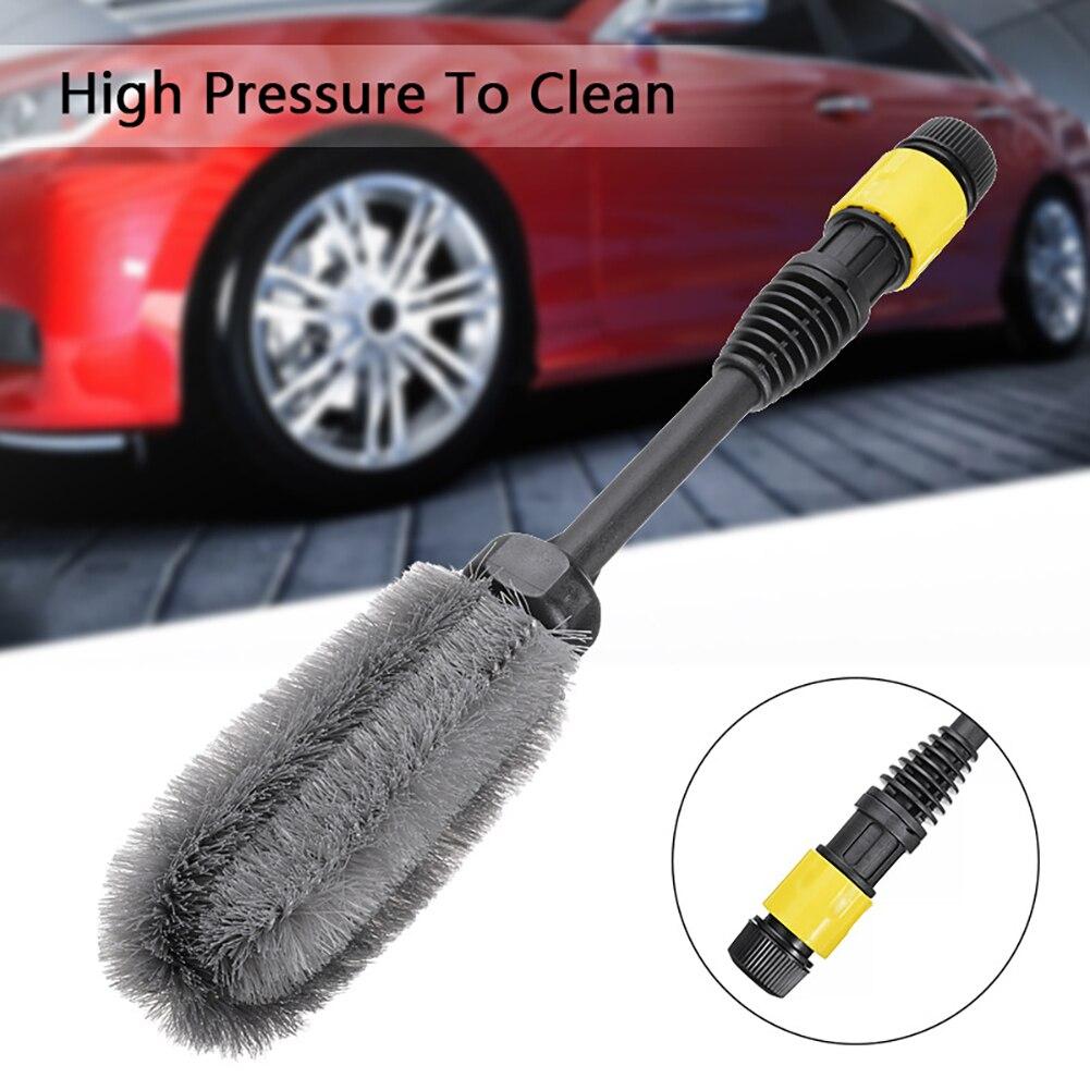 Щетка для чистки автомобильных колес, щетка для чистки шин, мягкая щетина из сплава, щетка для чистки автомобильного детейлинга, инструмент ...