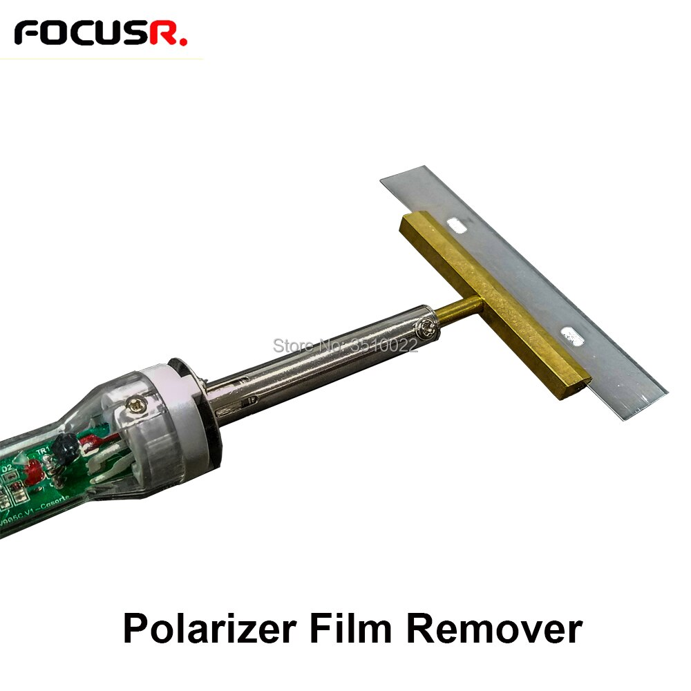 Removedor de película polarizador para soldador de iPhone con hoja para película polarizadora pegamento OCA limpieza temperatura ajustable