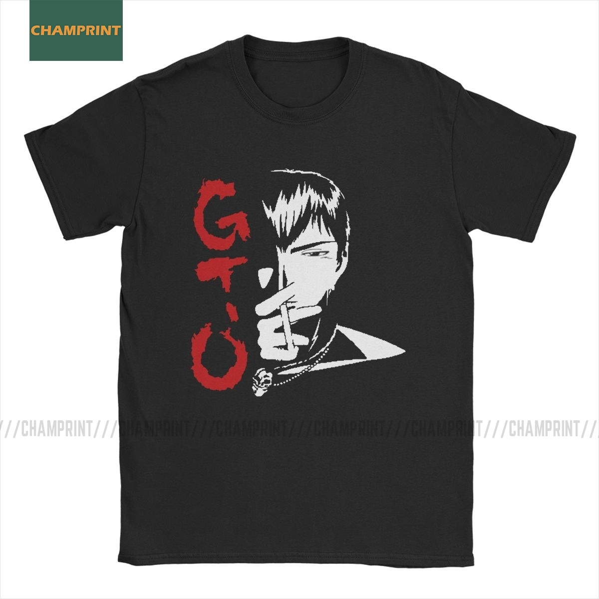GTO Great Teacher Onizuka Men's T Shirt GTO Manga Japan Eikichi Anime Funny Tee Shirt Short Sleeve T-Shirt Pure Cotton Tops