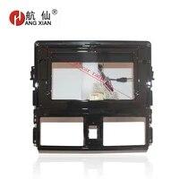 hangxian 2din car radio fascia frame for toyota vios 2014 2016 car dvd gps panel dash kit installation frame trim bezel