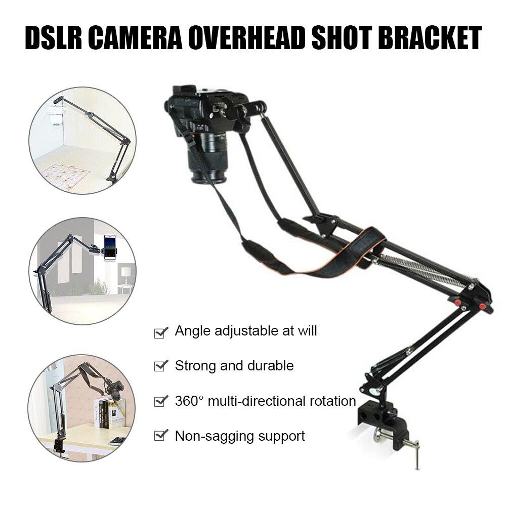 حامل كاميرا الجدول المشبك مجموعة 360 درجة دوران مكتب جبل كاميرا الذراع المشبك حامل ل منضدة طاولة مطبخ