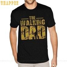 Cartoon The Walking Dad Zombie Graphic Tees Kurzarm Für Mann 4XL Schwarz T Hemd