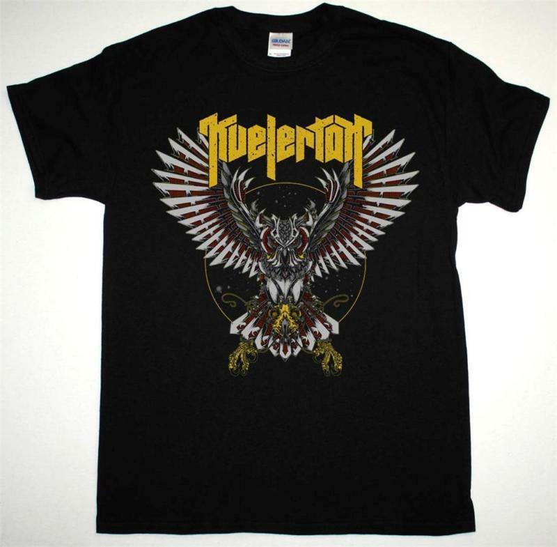Camiseta preta nova da baronesa do turbonegro do metal norueguês da coruja do robô de kvelertak