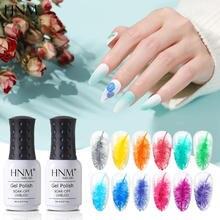 HNM 8ML Gel Nail Polish Frost Flower Nail Varnish Soak Off Primer UV LED Long Lasting Gel Polish Lacquer DIY Nude Macaron Color