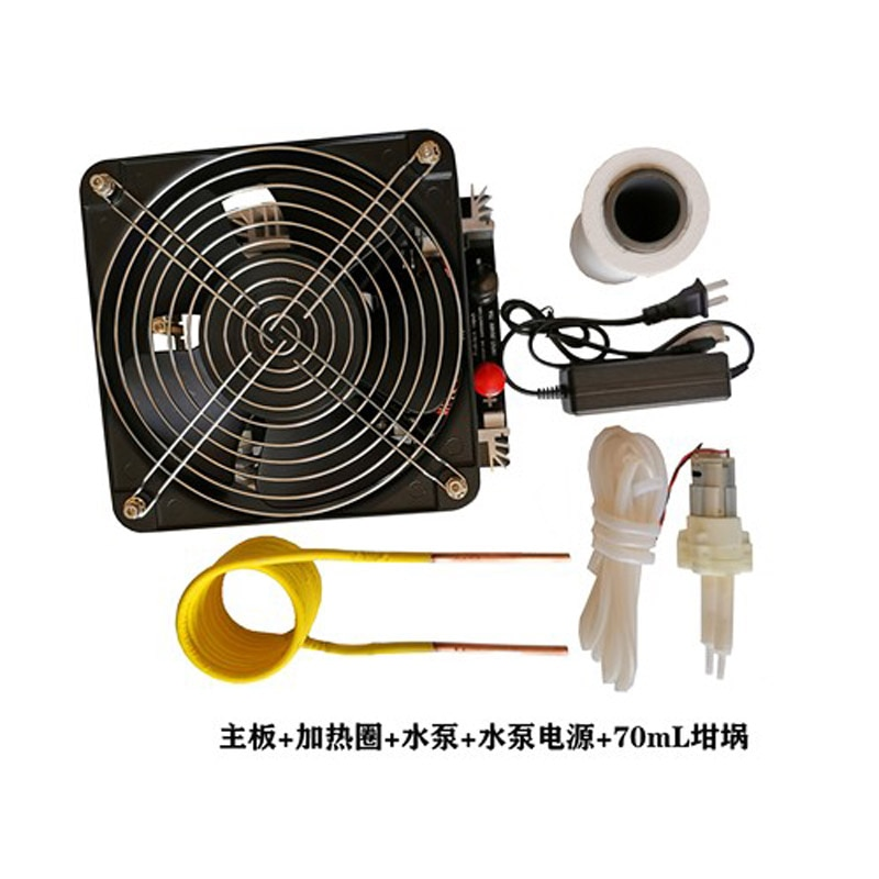4KW/4000W ZVS عالية التردد التعريفي سخان التدفئة PCB مجلس التدفئة آلة ذاب معدن + لفائف + بوتقة + مضخة
