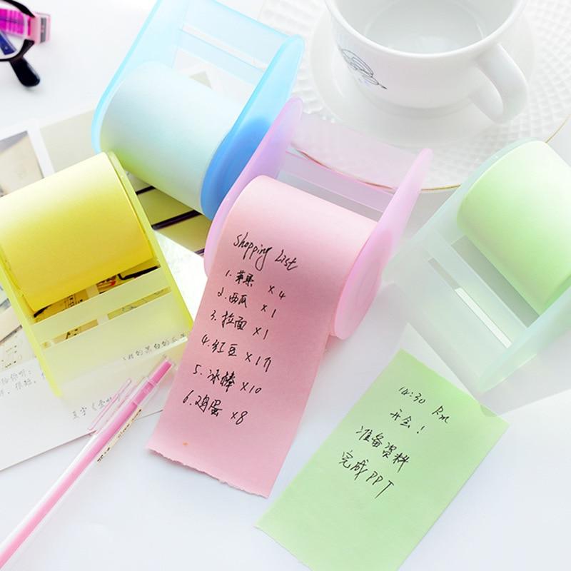 Mignon papeterie mémo tampons ceinture adhésif porte-ruban autocollant créatif autocollant Notes auto-adhésif Notes bloc-Notes