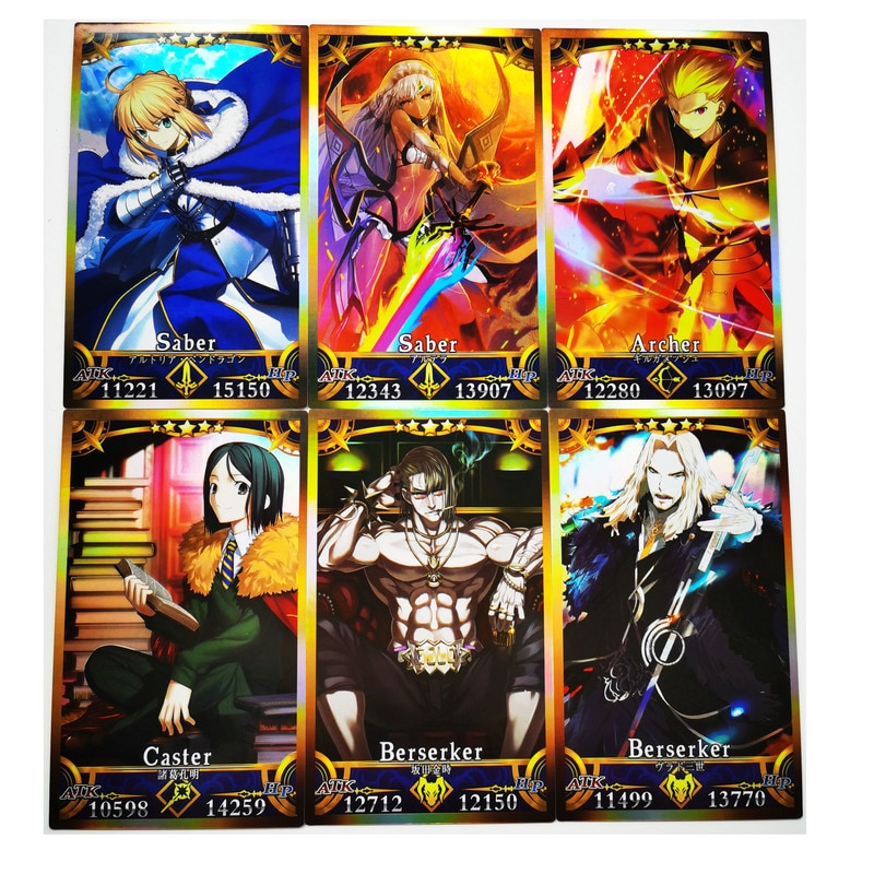 62pcs/set Fate Fgo Saber Fate/Grand Order Ruler Rider No.1 Hobby Collectibles Game Anime Collection Cards japan anime fate grand order original banpresto exq collection figure ruler malta