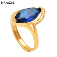 kioozol vintage charm multicolor cubic zirconia gold color ring for women wedding engagement party jewelry 2021 trend 637 ko4