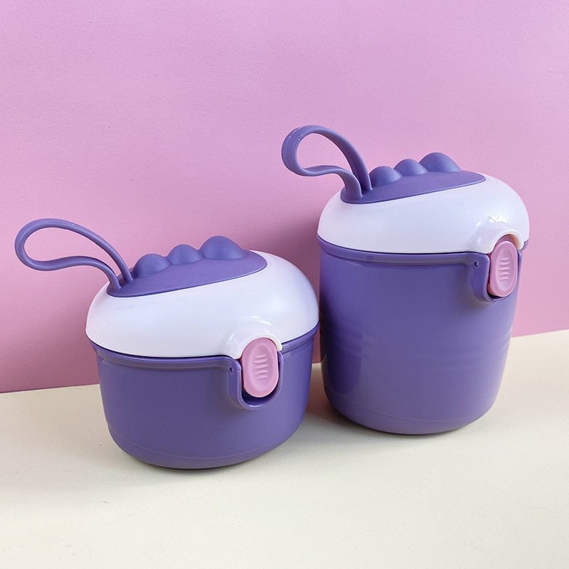 Baby Portable Milk Powder Food Storage Box Infant Feeding Essential Cereal Dispenser Toddler Double layer Snacks Mix Container