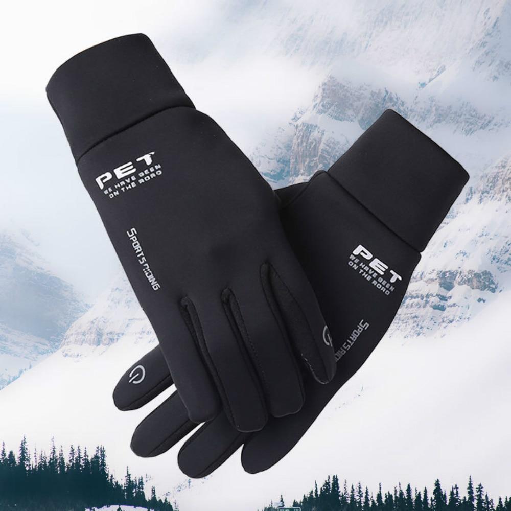 Новые черные зимние мужские перчатки, нескользящие ветрозащитные ветровки, сноуборд, сенсорный экран, теплые дышащие мужские перчатки для ...
