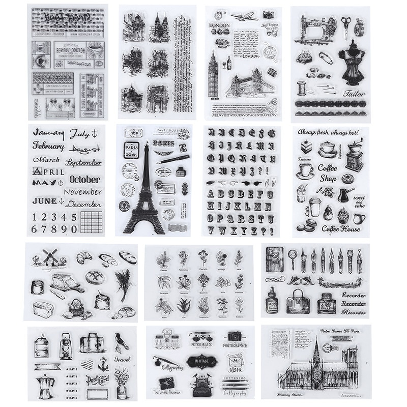 Map of Italy Clear Stamps for Card Making Scrapbooking Photo Album Decor Rubber Silicone Craft Italian Travel Transparent Stamp