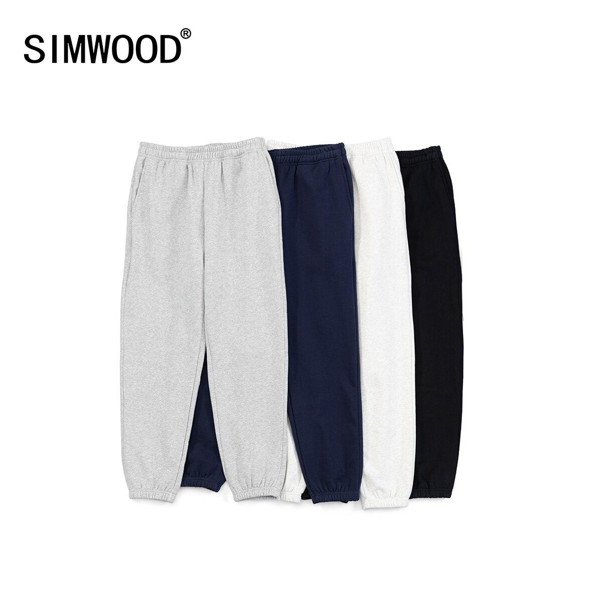 SIMWOOD-بنطلون رياضي من الصوف للرجال ، فضفاض ، مريح ، مقاس كبير ، ملابس رياضية ، مجموعة شتاء 2021 الجديدة