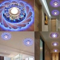 LED Ceiling Light Chandelier Indoor Crystal Blue Light Lamp Bedroom Living Room Light Lamp Decoration ABS Glass Bubble wrap