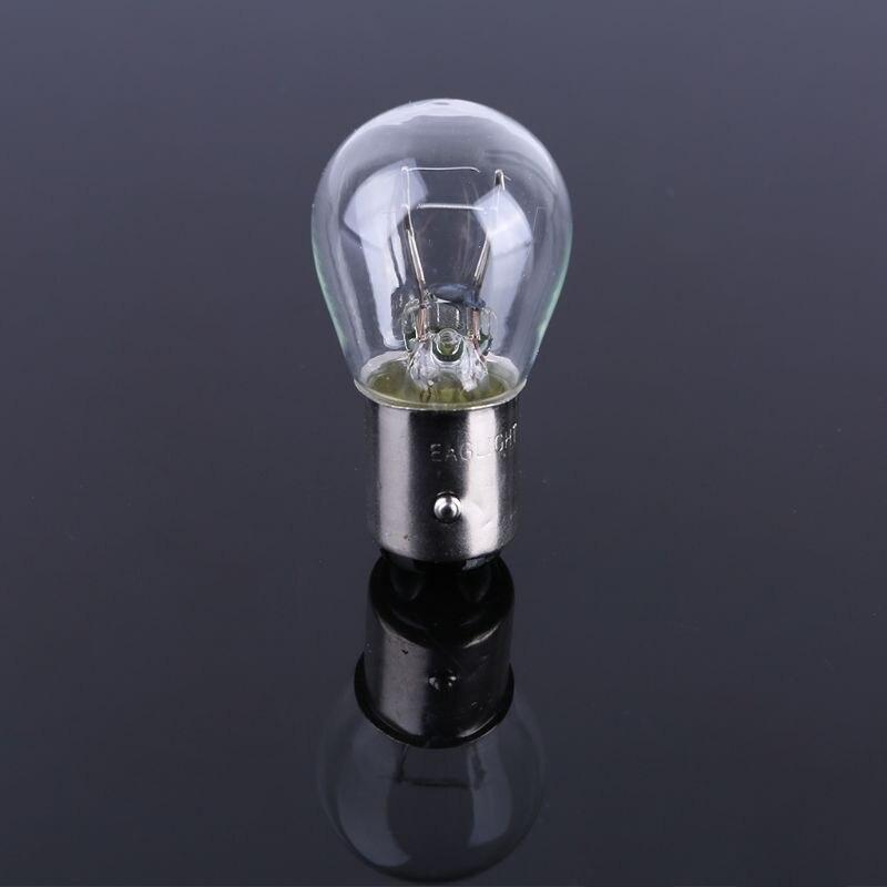 2 pièces P21/5W S25 12V21/5 BAY15D voiture verre clair lampe frein queue ampoule lampe halogène T8WF