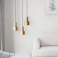 Modern Gold Bell Pendant Lights Bar Kitchen Led Hanging Lamp Dining Room Cafe Pendant Light Fixtures Loft Industrial Home Decor