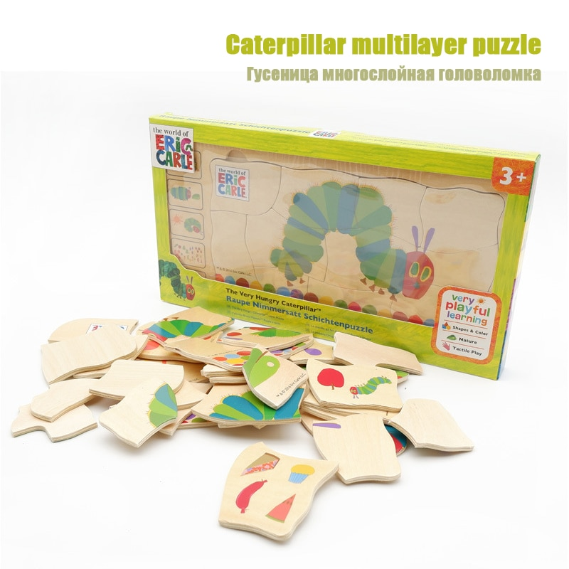 caterpillar сандалии мужские caterpillar camcove размер 40 5 Multilayer caterpillar puzzle Early childhood education toy hungry caterpillar puzzle Digital color cognitive educational toys