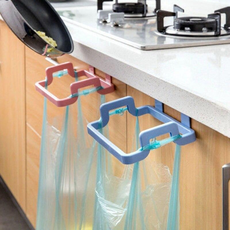 Küche Mülleimer Taschen Klammern Haushalt Schränke Lumpen Lagerung Rack Küche Mülleimer Rack Küche Zubehör