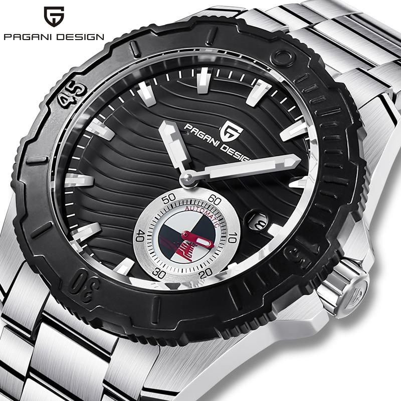 PAGANI DESIGN Brand Men's Automatic Watch Top Luxury Sport Watch Man Waterproof Stainless Steel Wristwatch Men Mechanical Watch