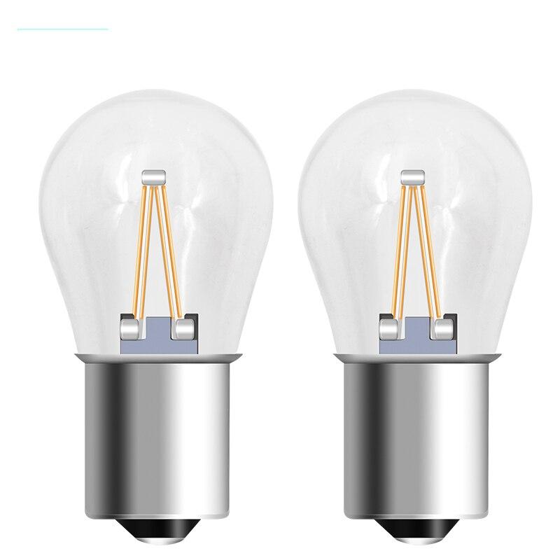 2 uds 1156 Led P21w LED 1157 bombillas Ba15s lámpara Bay15d luz coche de mazorca luces DRL 12V 24V 6000K blanco reverso DRL señal 650LM