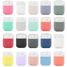Soft Silicone Cases For Apple Airpods 1/2 Protective Bluetooth Wireless Earphone Cover For Apple Air
