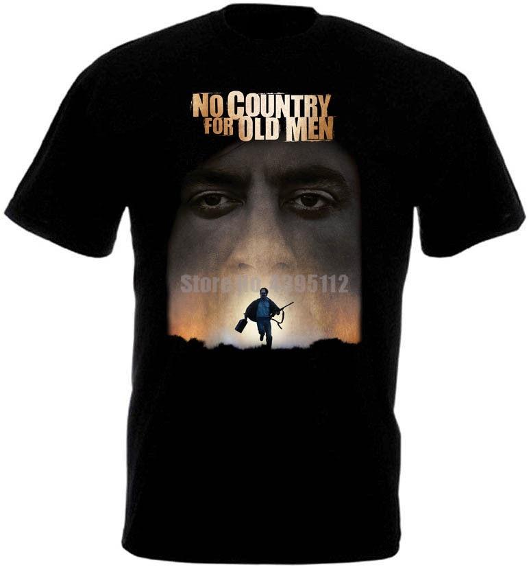 Camiseta de hombre Coen Brothers, sin cartel de país, ropa de calle para hombre, camiseta 2019 Gym King, camiseta negra y blanca, camiseta negra