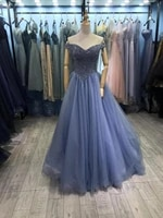 sparkling evening dresses off the shoulder lace up back shining beads sequins top prom dress