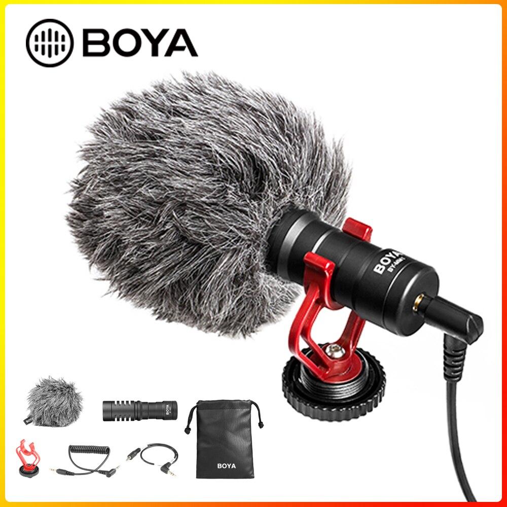 Boya BY-MM1 shotgun microfone de vídeo universal compacto on-camera mini gravação microfone condensador direcional para dslr filmadora mac