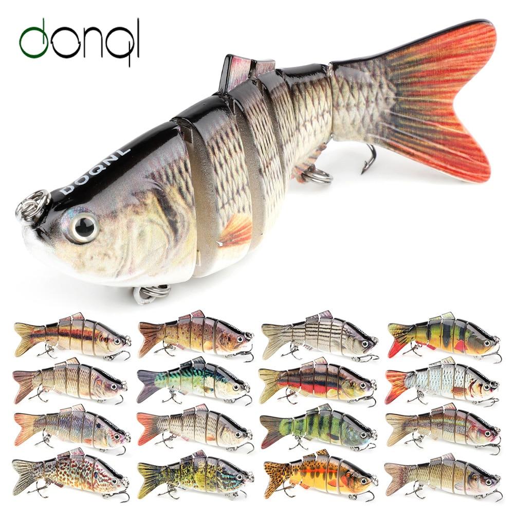DONQL Wobblers Minnow señuelo de pesca 9,7 cm 14g Crankbait multiarticulado Swimbait cebo duro con anzuelos de pesca agudos afilados