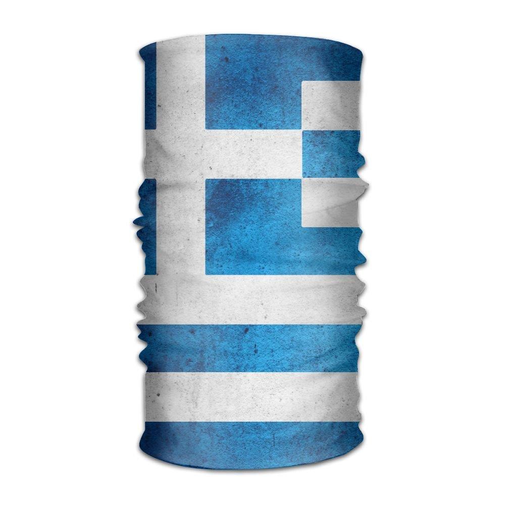 OHMYCOLOR Retro Greek Flag Headwrap Men Women Headwear Headband Neck Scarf Elastic Do Rag Cap Magic Head Scarf Bandana Soft