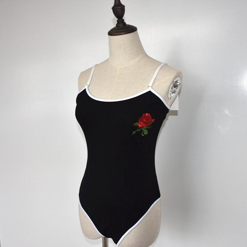 Женский цельный сексуальный соблазнительный кружевной комбинезон с вышивкой в виде Розы