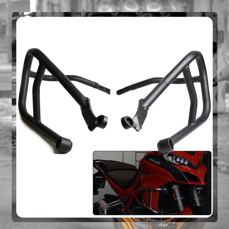 ل DUCAITI Multistrada 1200 950 1260 MTS1260S MTS950 2017-2020 دراجة نارية محرك الحرس الوفير تحطم بار الجسم الإطار حامي