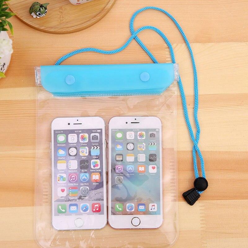 Bolsa impermeable de PVC de 9 colores, bolsa multifunción para nadar o navegar en la playa, bolsas para pantalla táctil para Smartphone, protege el teléfono