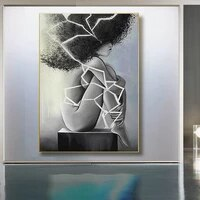 black and white woman canvas art print and posters wall art canvas paintings picture for bedroom room home decor