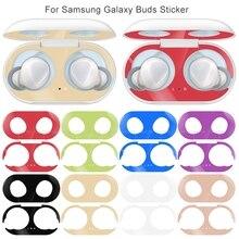 Autocollant de poussière en métal de nouveauté pour le protecteur protecteur de peau de étui pour écouteurs de bourgeon de Samsung boîtier à autocollants pour des accessoires de bourgeon de galaxie