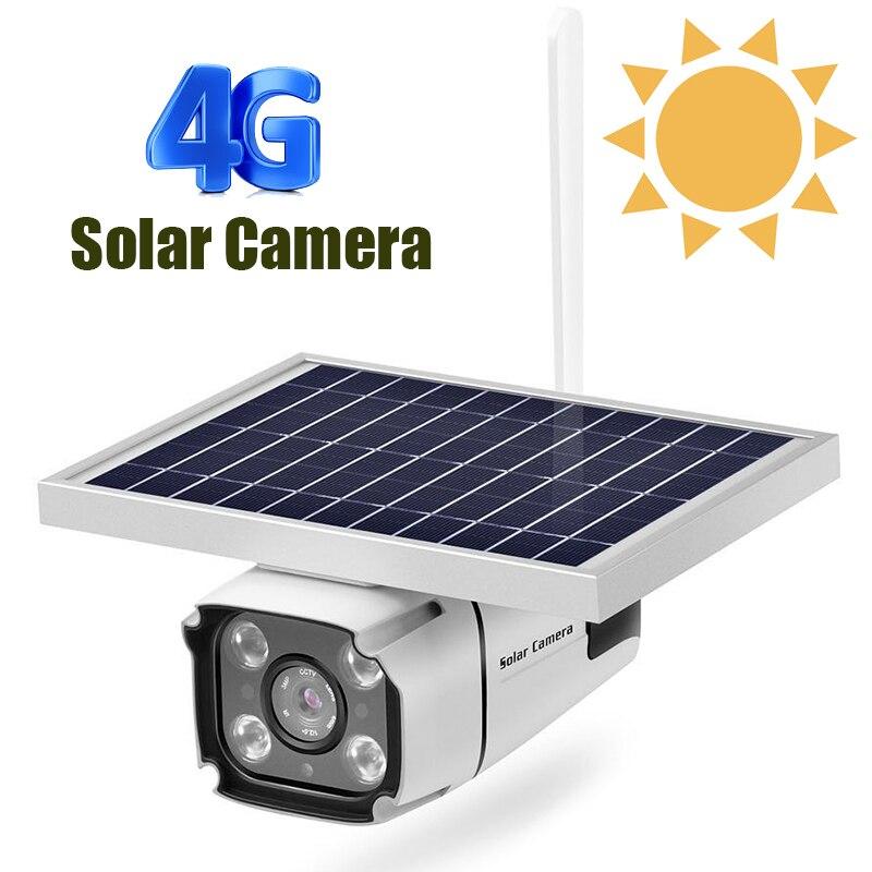 1080P Solar IP Camera  Wireless Wi-fi Security Surveillance Waterproof Outdoor Camera IR Night Vision Solar Power Bullet Camera