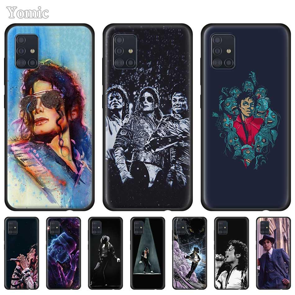 Silicone Case for Samsung Galaxy A50 A51 A70 A71 A10 A20 E A30 S A40 A60 A80 Black Soft Phone Cover Michael Jackson