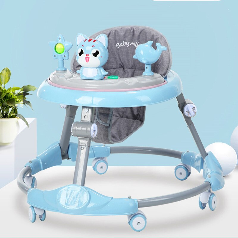 Baby walker multi-function  rollover boy baby girl small child starter learn to drive enlarge