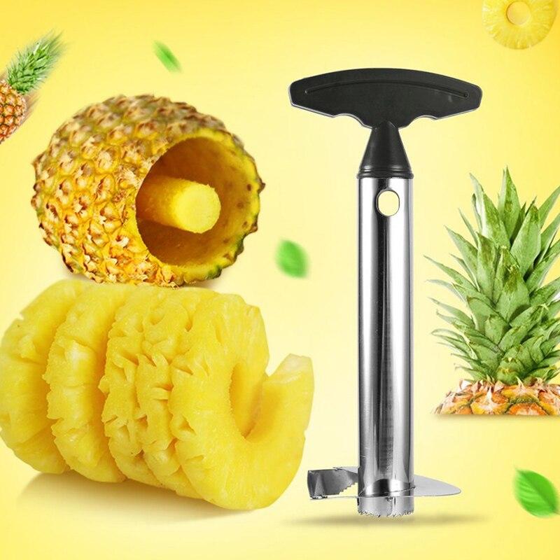 Rebanador de piña de acero inoxidable 201, pelador de frutas, herramienta de cocina, cortador en espiral de piña, nuevos accesorios