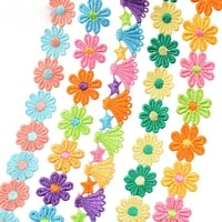 1yard25mm colorful flower lace trim for knitting embroidered ribbon gift box decor diy handmade patchwork sewing supplies crafts