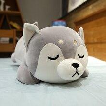 35-75cm Cute Stuffed animal plush Toy Huskey Dog doll Creative Huskey lying Plush Cushion Kids Gift