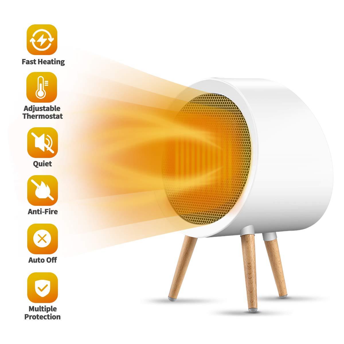 1000 واط السيراميك سخان محمول ، 3 طرق سريعة التدفئة الكهربائية الفضاء سخان مع السيارات إيقاف و تلميح الإفراط حماية سخان هادئ