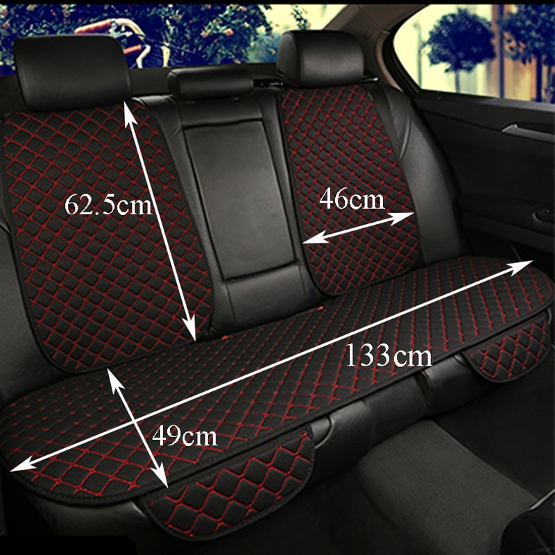 Large Size Flax Car Seat Cover Protector Linen Front or Rear Seat Back Cushion Pad Mat Backrest for Auto Interior Truck Suv Van enlarge