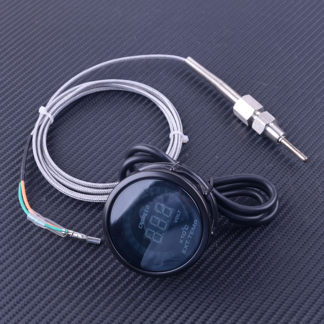 "ADWCX Universal 2 ""52mm DC 12V LED Digital de la temperatura del Gas de escape EGT Indicador de temperatura del Sensor del medidor de Monitor accesorios de Interior de coche"