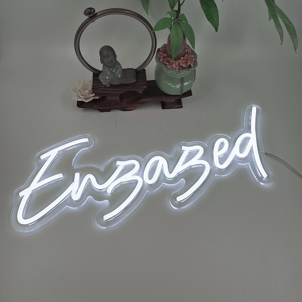 Custom Engaged Led Neon Light Sign 56x23cm Wedding Decoration Bedroom Home Wall Decor Marriage Party Decorative Illuminated enlarge