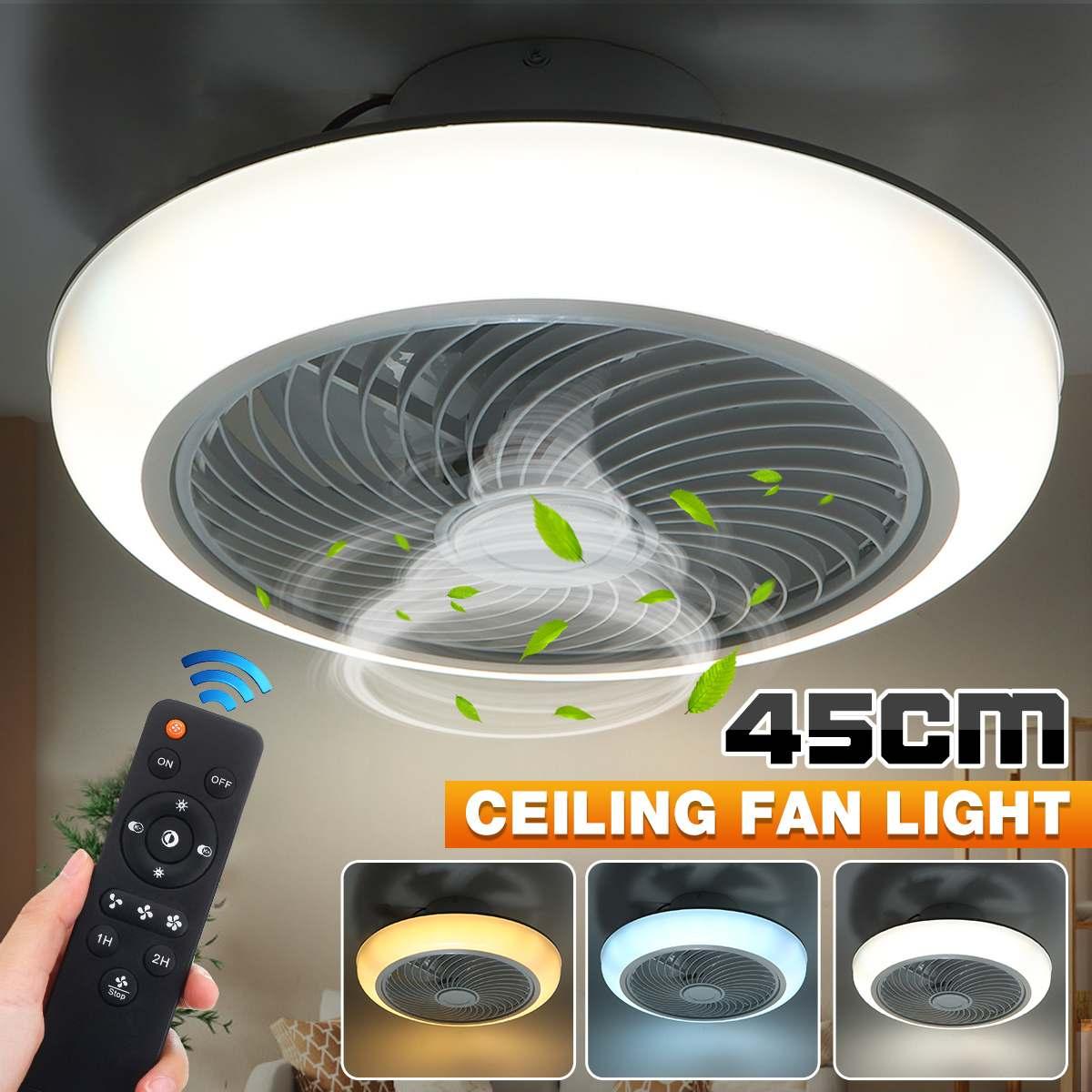 36W/72W 110V/220V 45 سنتيمتر عكس الضوء LED السقف مروحة ضوء التحكم عن بعد مروحة مع الإضاءة قابل للتعديل سرعة الرياح LED الهواء برودة مصباح