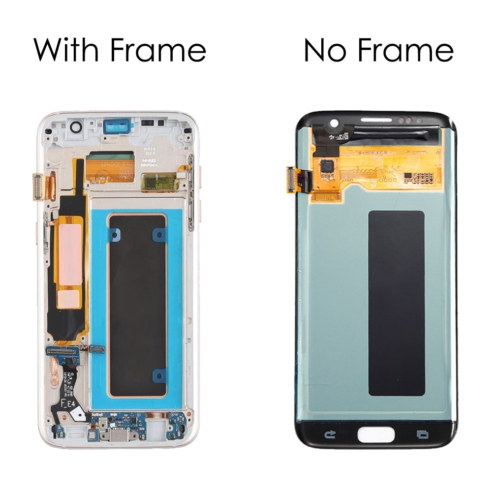Original 5.5'' AMOLED LCD Display Touch Screen Digitizer Assembly For Samsung Galaxy S7 edge G935 G935F Repair Parts With Burn enlarge