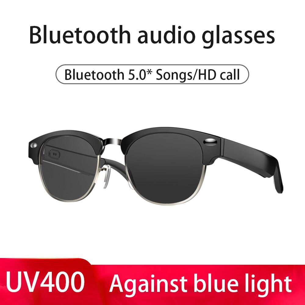 contra a Luz Óculos de Áudio sem Fio Óculos de Sol Inteligentes para Ios Azul Bluetooth Fone Ouvido Baixo Alta Fidelidade Aberto Falante Ipx64 Android