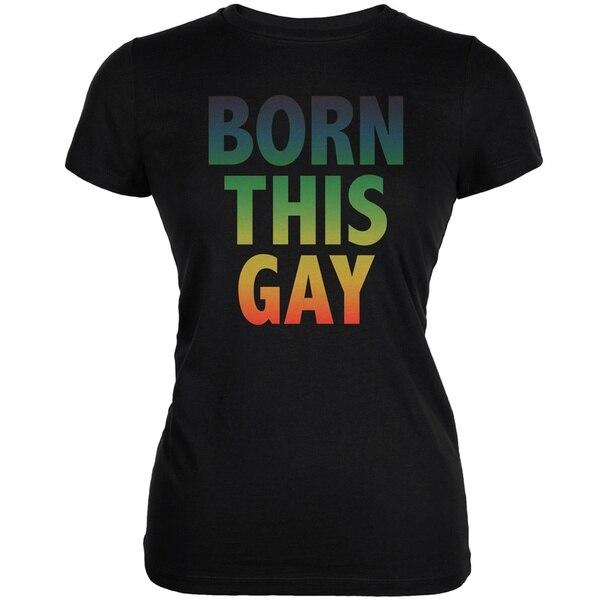 Гей ЛГБТ Born This гей юниоров футболка из мягкой ткани;