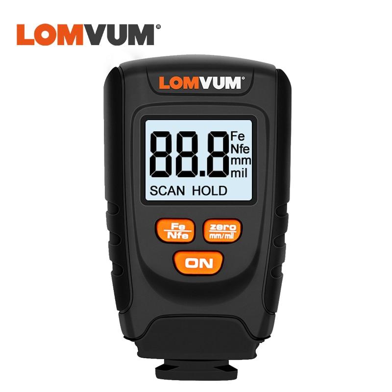 LOMVUM Car Paint Coating Thickness Gauge Film Detector Meter Digital Automobile Thickness Tester Mesuauring Tools недорого