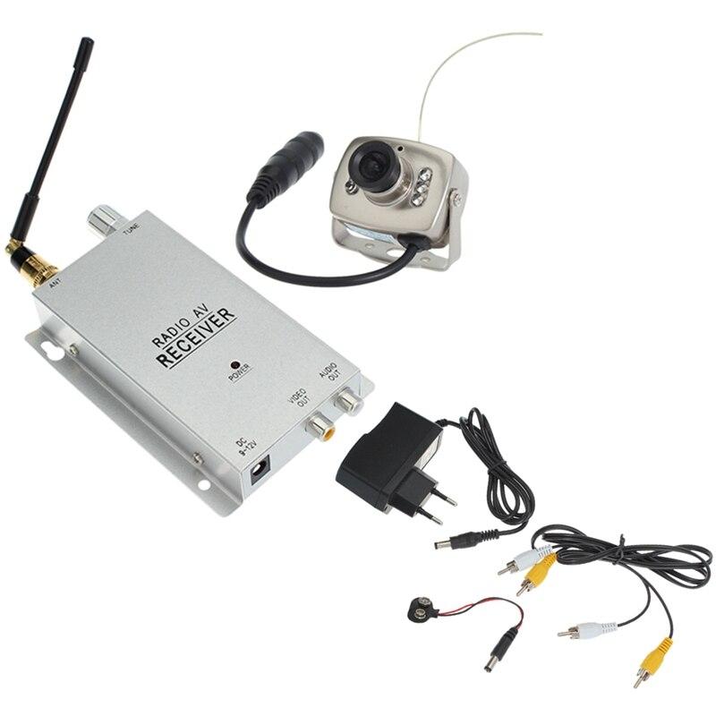 ABHU-1.2G комплект беспроводной камеры, радиоприемник AV с источником питания, Домашняя безопасность (штепсельная Вилка европейского стандарта)